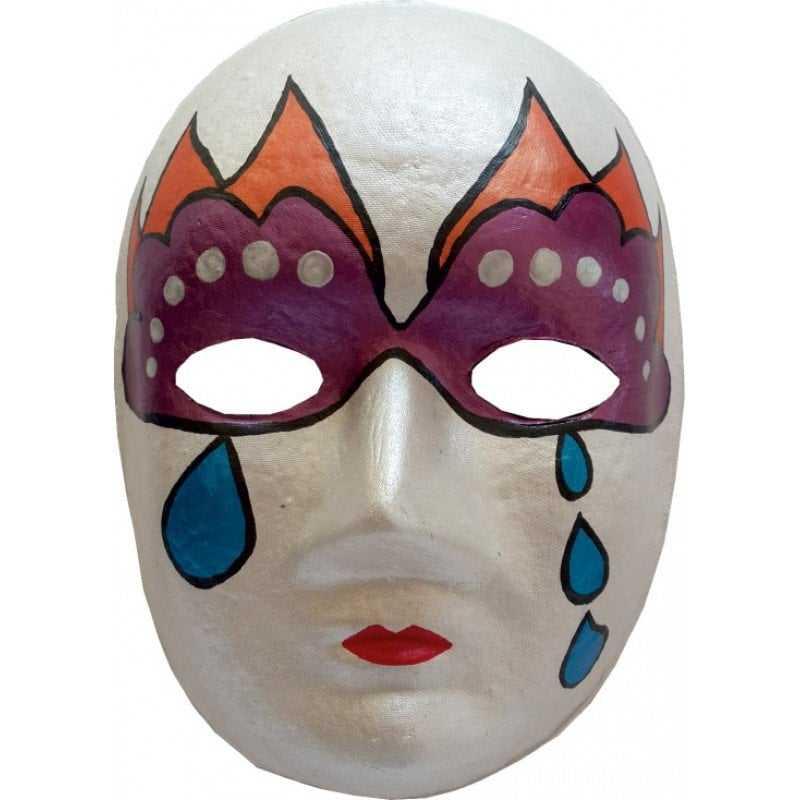 Karton Maske Boyama 3m Akademi